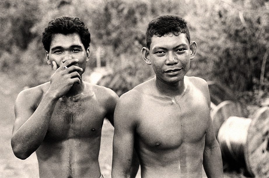 Two men in Sumatra Indonesia